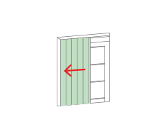 Slat shutters which slide inside the wall